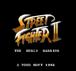 Street Fighter II - The World Warrior (Unl)